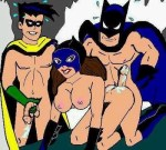 Take a look at batman threesome in the cave