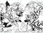 X-men #100 Cover Tribute by Benes