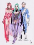 Scarlet Witch, Polaris, Quicksilver