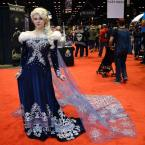 """Hannah Éva on Instagram: """"Here is a full view of my new Elsa dress taken at C2E2. I still have to do a photoshoot in character, but I wanted to show off what the…"""""""