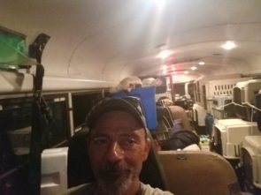 Noahs Ark except its a school bus Truck driver rescues 64 dogs and cats from floods of Hurricane Florence