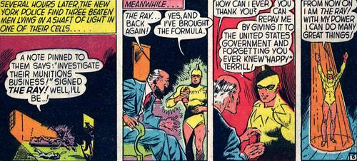 The Ray fait promettre au savant de tout oublier de Happy Terrill.