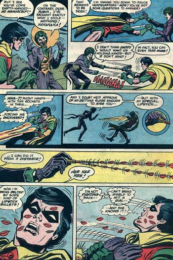 Robin couvert de bisous...