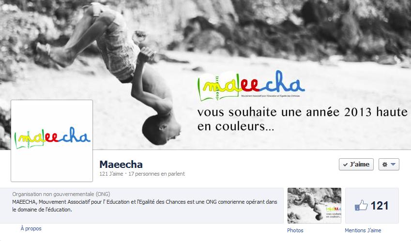 couverture facebook association Maeecha