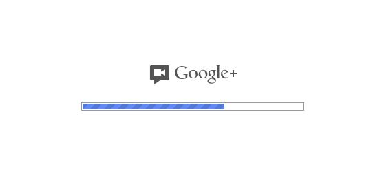 google+ loading