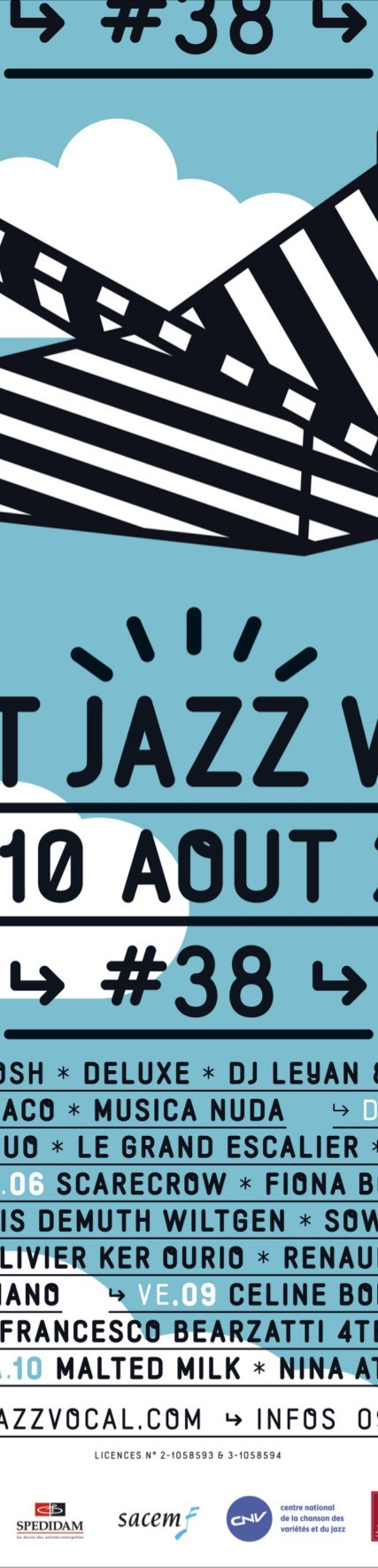 crestjazz Festivals août 2013 : 5 exemples daffiches associatives
