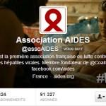 Couverture et Bio Twitter d'AIDES