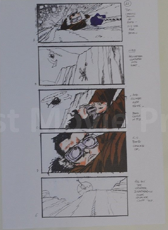 Die another day storyboard