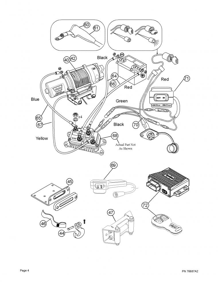 warn winch wiring diagram 4 post