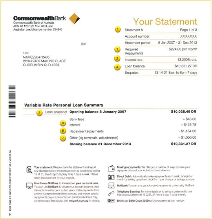 Online Pension Transactions Through Mypba Pension Personal Loans Statement Information Commbank