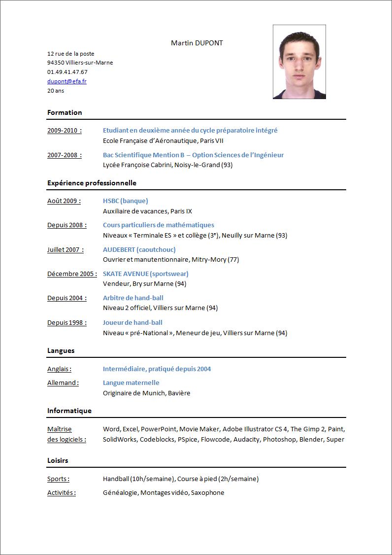 preparer un cv en anglais