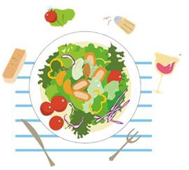 食事の最初に野菜を完食する