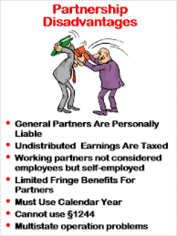 What are the advantages & disadvantages of partnership?