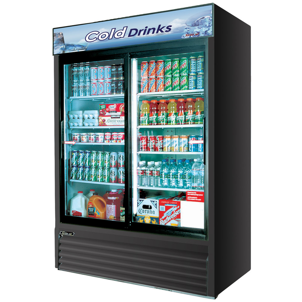 Fullsize Of Glass Front Refrigerator