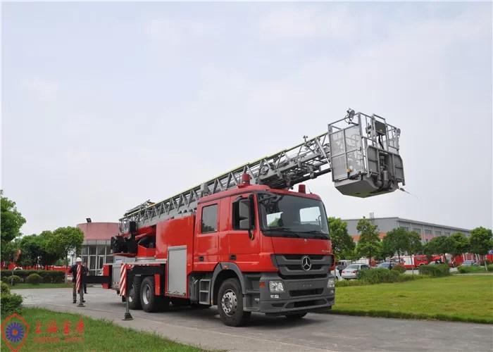 6x4 Drive Aerial Ladder Fire Truck Short Adjustment Time