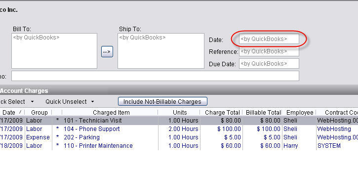 date stamp of invoices to quickbooks -- - CommitCRM Forums - invoice creation