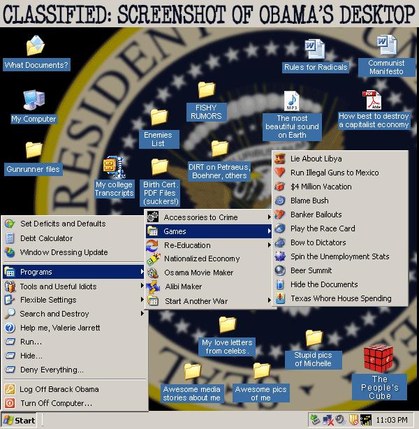 Classified: Screenshot Of Obama's Desktop
