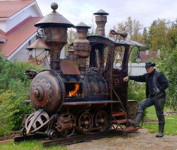 Locomotive Barbecue Grill