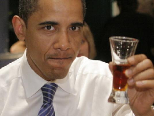 Obama Drinking