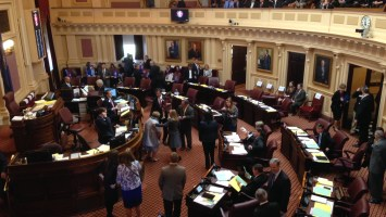 The Virginia General Assembly opened Wednesday, beginning with Majority Leader Thomas Norment (R-James City County) barring the media from the senate floor. Photo by Matt Chaney
