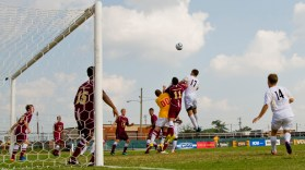 The VCU men's soccer team faces a tough test on the road for the next five games.