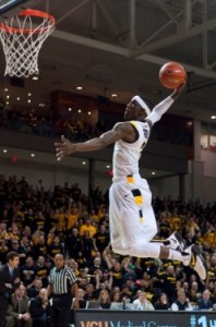Briante Weber slams one down following a steal in the back court.
