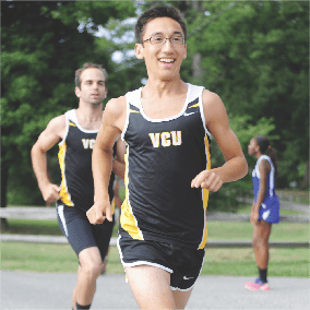 Junior Austin Lushinski looks to power surge men's XC this season. The team competes on Sept. 1 at CNU. PHOTO courtesy of vcu athletics