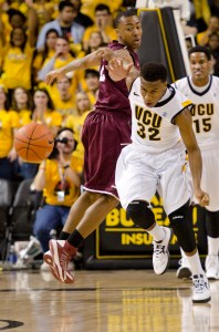 Melvin Johnson (above) forces a turnover against Fordham last Saturday. Photo by Chris Conway