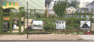 VCU alum Steven Casanova began a community garden that features portraits of Carver neighborhood residents in 2012 in an effort to better preserve the locality's history. PHOTO BY JULIE TRIPP