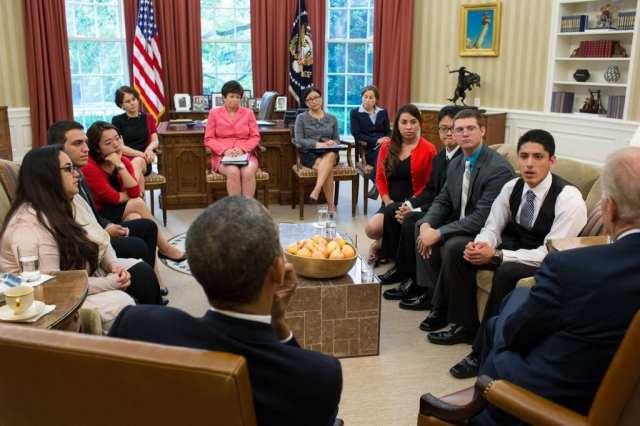 7 members from FIRM—affiliated with CHIRLA, Massachusettes Immigrant and Refugee Advocacy Coalition (MIRA), NYIC and Florida Immigrant Coalition *(FLIC)—met with the President and Vice President in the Oval Office.