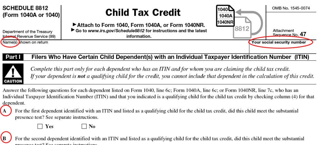 Schedule 8812 What is IRS Form Schedule 8812  Filing Instructions