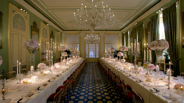 Setting the table Will a rectangular table suit your wedding? - wedding reception setup with rectangular tables