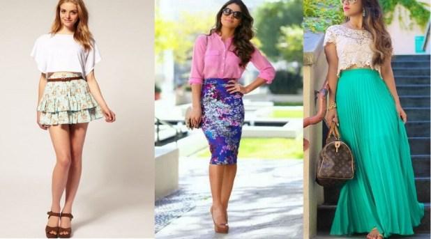 Faldas de colores a la moda