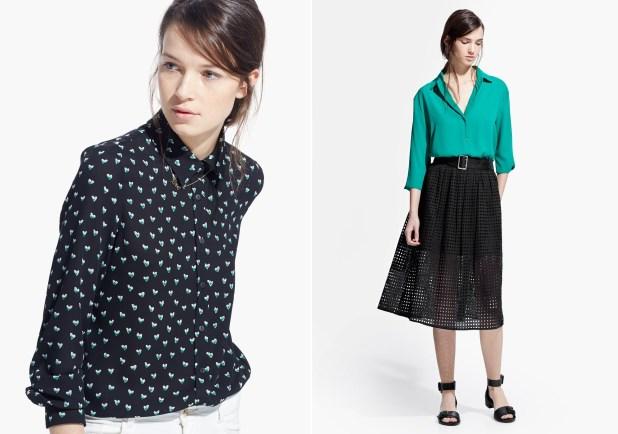 Blusas juveniles de moda escotadas de gasa