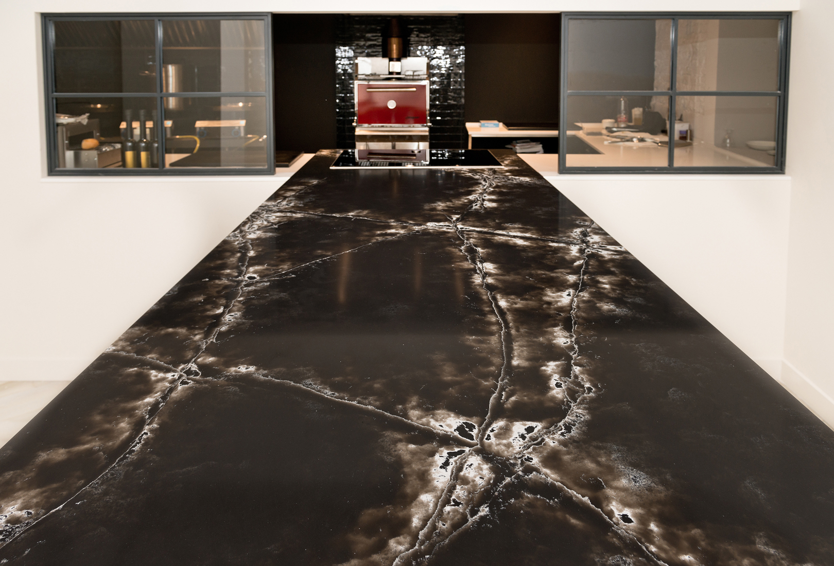 Black And White Marble Wallpaper Ice Black From The Genesis Collection Centerpiece Of The