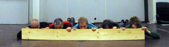 plank loeren op de grond