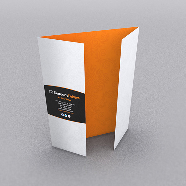 9 Stylish Folder  Brochure Folds for Print Designers - gate fold brochure mockup