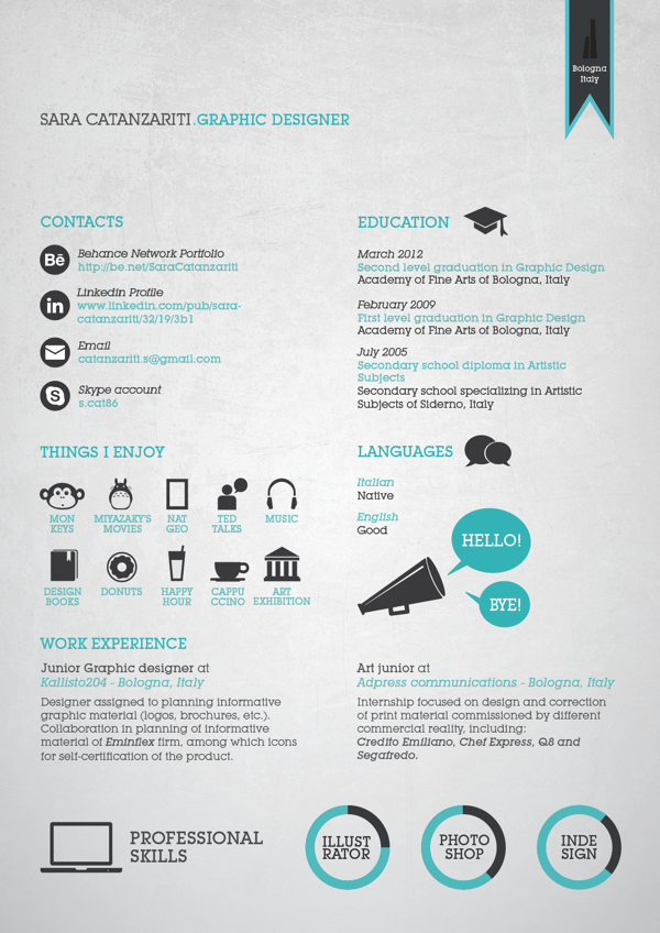 web design cv ideas