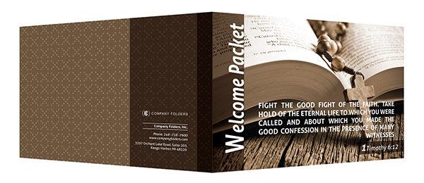 Folder Template Catholic Church Welcome Packet Folder Design