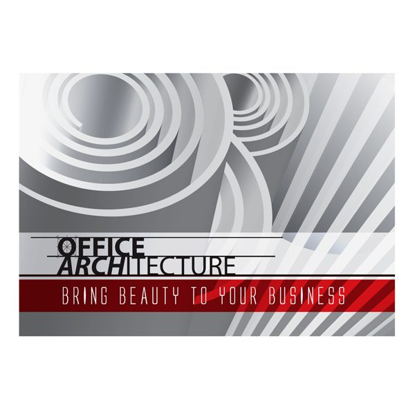 Office Architecture Folder  Annual Report Cover Template