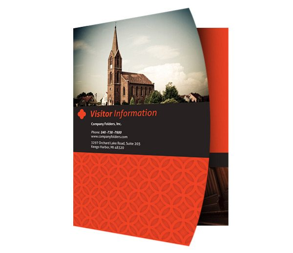 Happy Church Visitor Folder Packet  Card Template - Free Templates