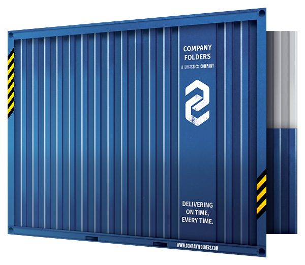 free psd shipping container folder design template