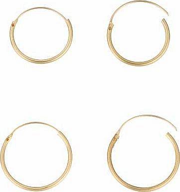 Argos 9ct Gold Hinged Hoop Earrings