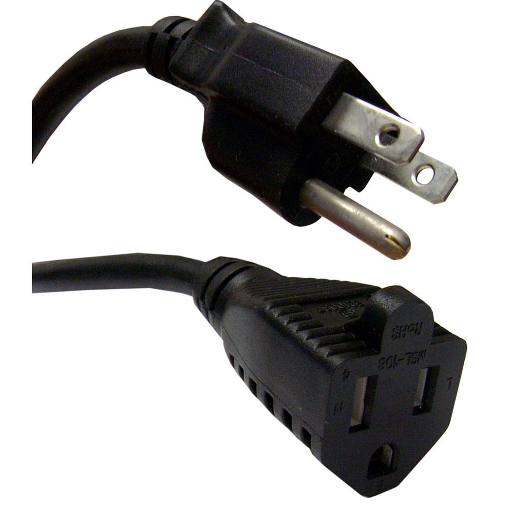 Power extension cord nema5 15p to nema5 15r 18awg 10