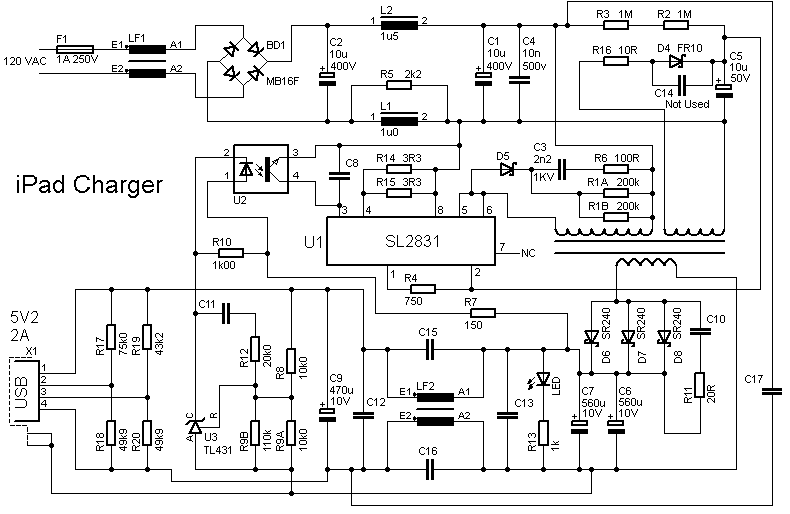 wiring diagram for ipad charger