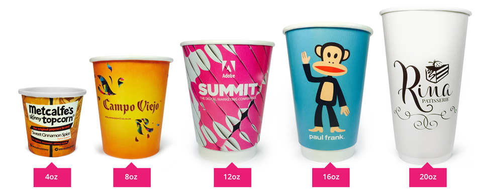 Disposable Paper Cup Sizes