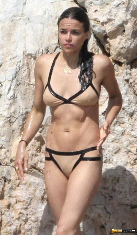 Michelle Rodriguez Nude Sexy Scene Wet Paparazzi Softcore