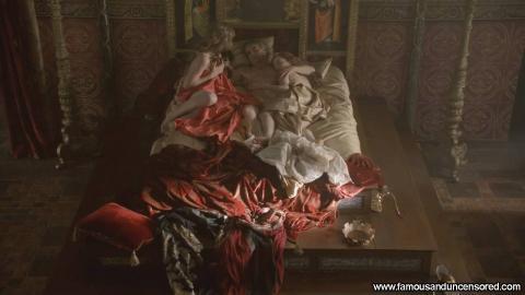 Jemima West Nude Sexy Scene The Borgias Sleeping Bar Bed Hd