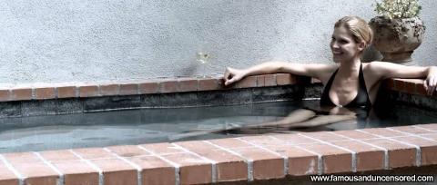 Tricia Helfer Nude Sexy Scene Open House Spa Bikini Actress