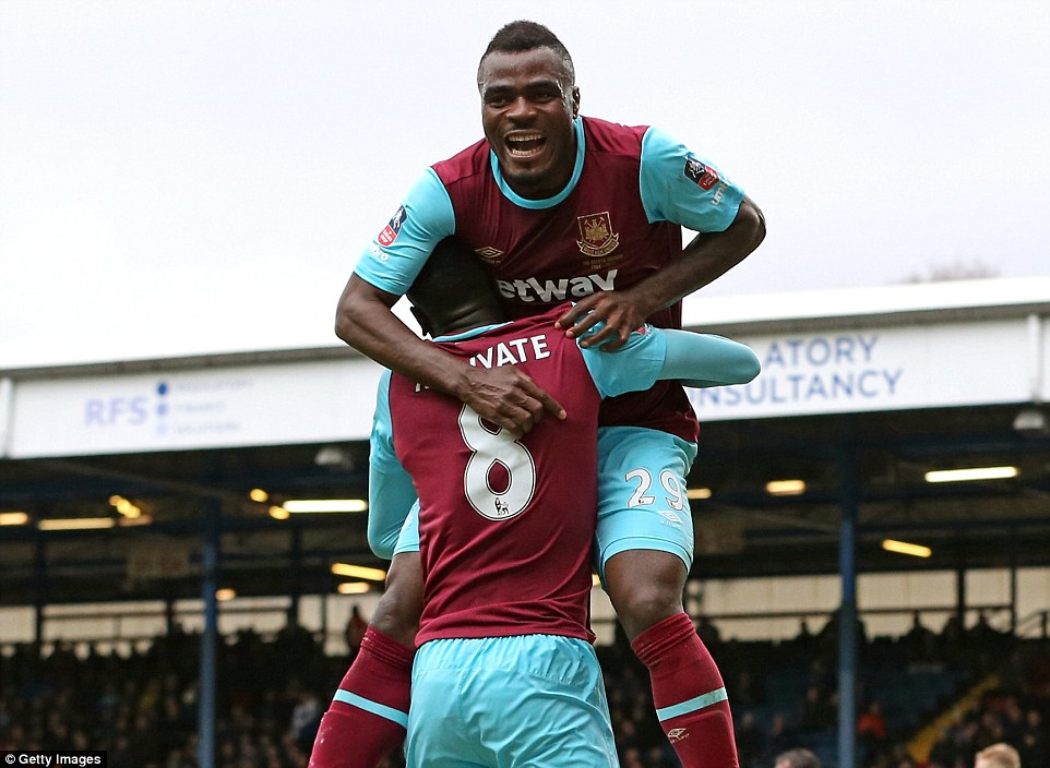 Emenike, Moses Lead West Ham To FA Cup Quarter-Finals